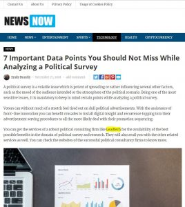 Benefits of Political Survey