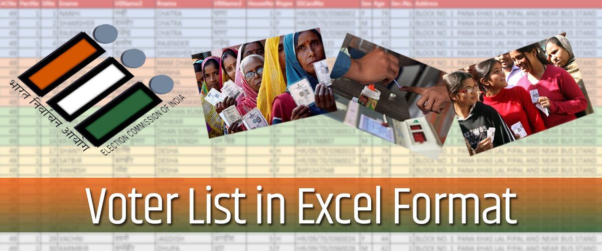 voter list in excel format