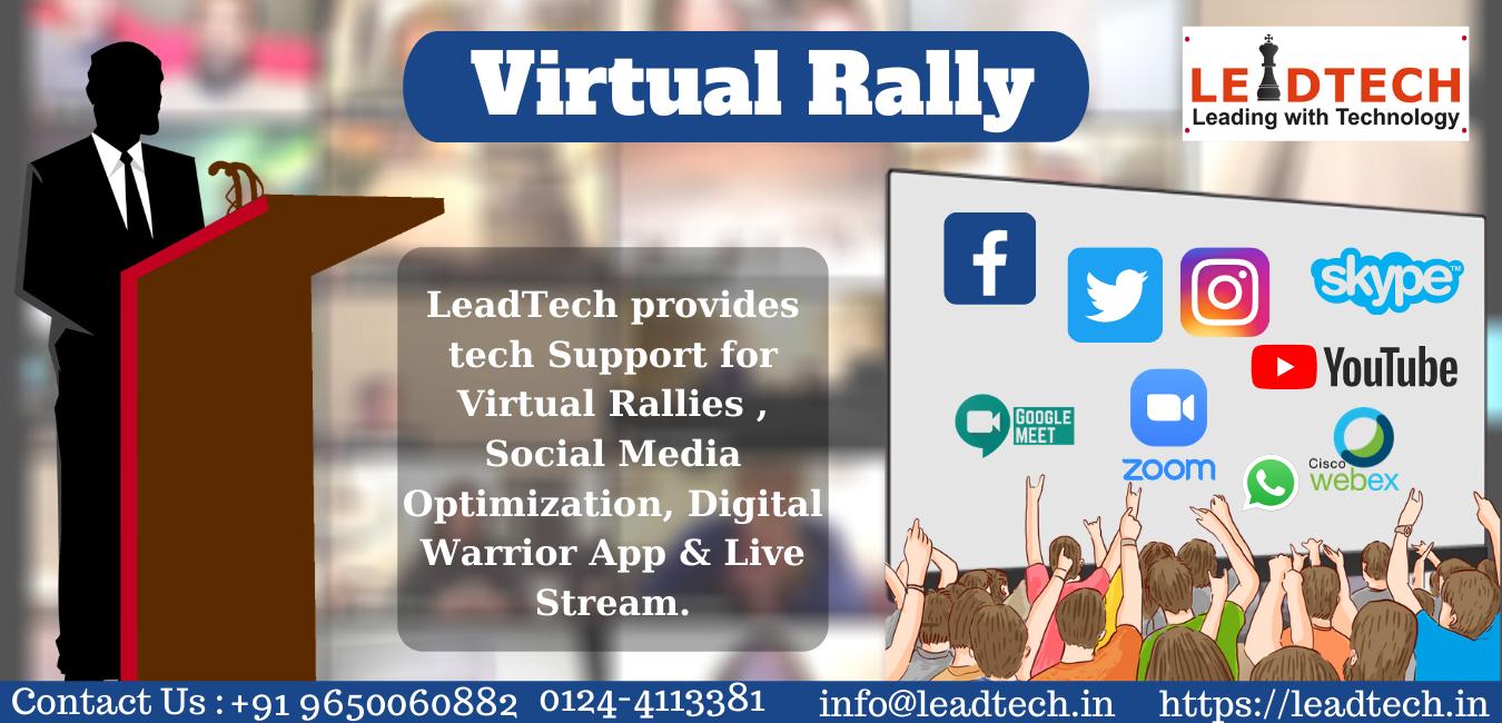 Virtual political rally